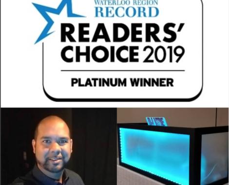 Waterloo Region Record | Reader's Choice 2019 | platinum Winner | DJ Vibe